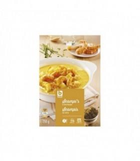 BONI SELECTION scampis au curry 250gr - BELFREEZE