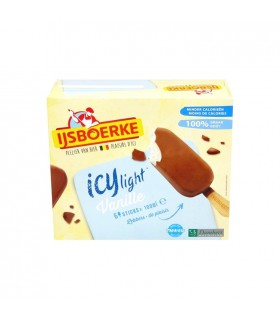 Ijsboerke ICY light glace vanille sticks 6x 100 ml