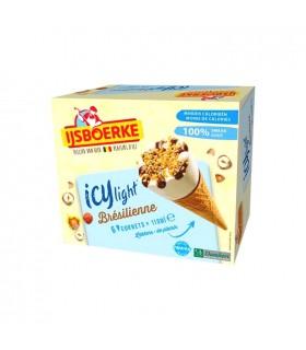Ijsboerke ICY light glace cornet brésilienne 6x 110 ml